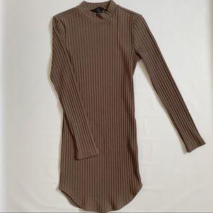 Forever 21 ribbed mock neck dress